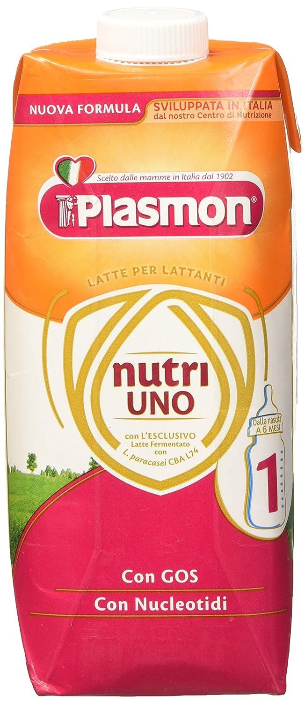 Plasmon Latte Liquido Nutri Uno - 12 Confezioni da 500 ml, Totale: 6 L