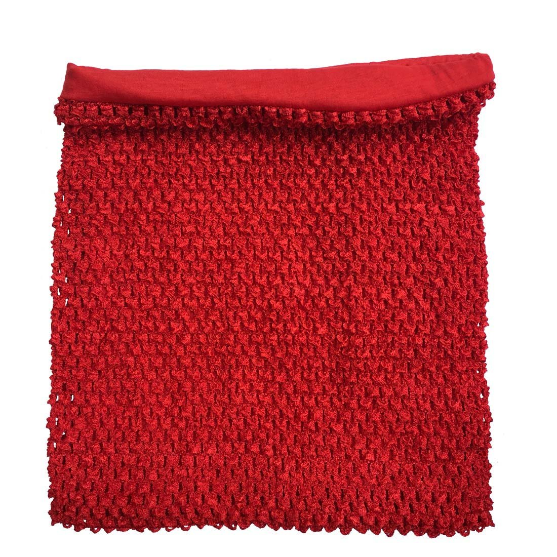 Amazon Red Crochet Tutu Top Lined 12 Inches X 10 Inches Elastic