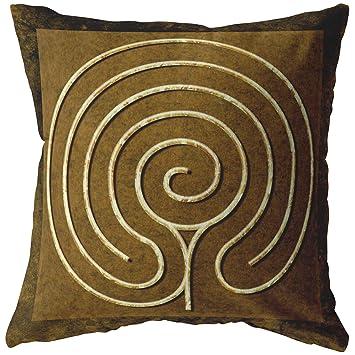 Amazon.com: Mandalynths Chakra Vyuha - Almohada de laberinto ...
