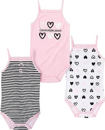 CALVIN KLEIN Baby Girls 3 Pieces Pack Bodysuits