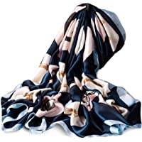 Silk Scarf Floral Long Lightweight Womens Fashion Scarves for any Occasion or Season