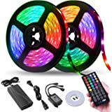 LED Strip Lights, Tenmiro 32.8ft Led Music Sync Color Changing Light with 40keys Music Remote Controller, Led Lights for Room