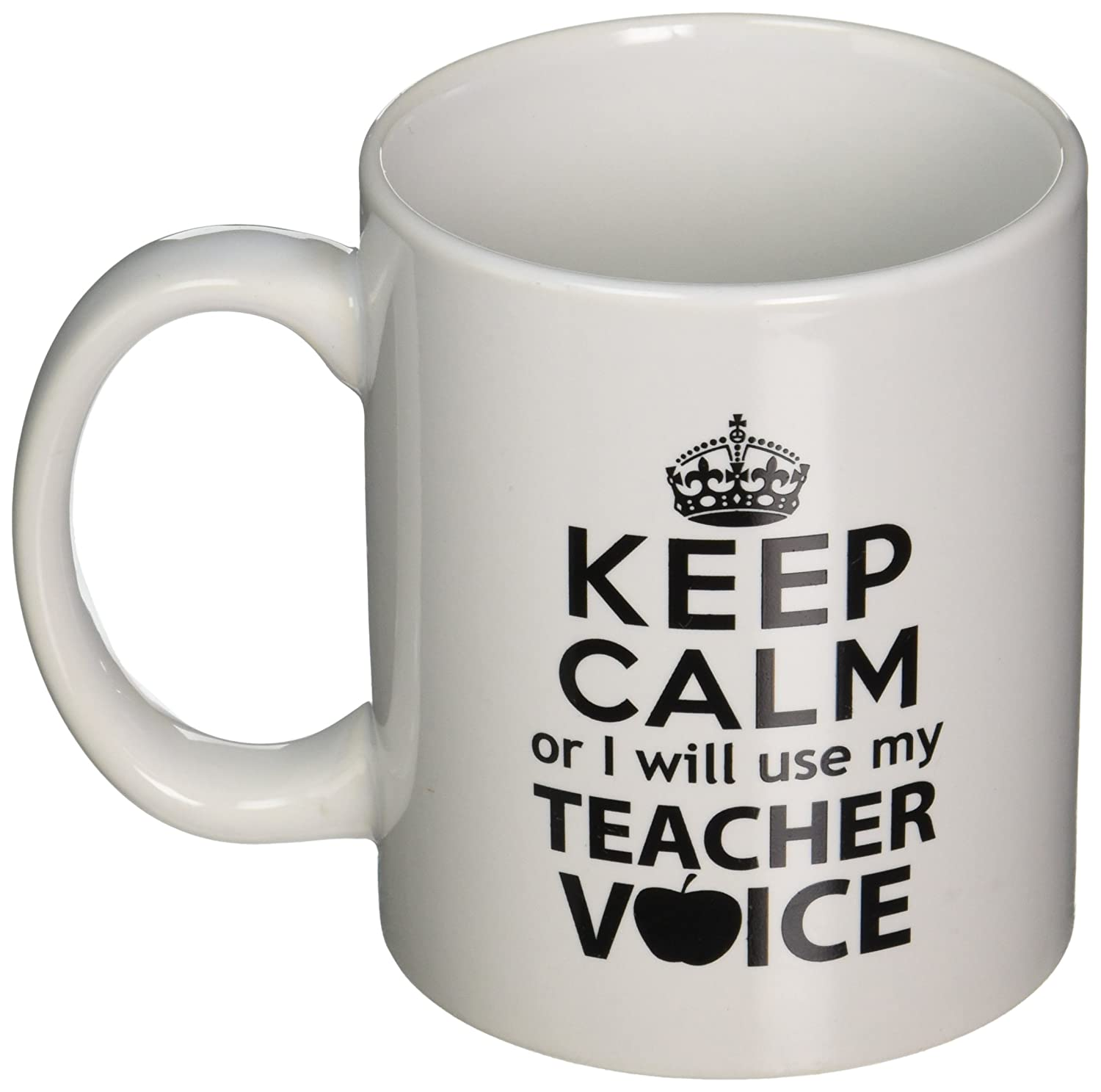 Amazon Keep Calm I Will Use My Teacher Voice 11 Ounces