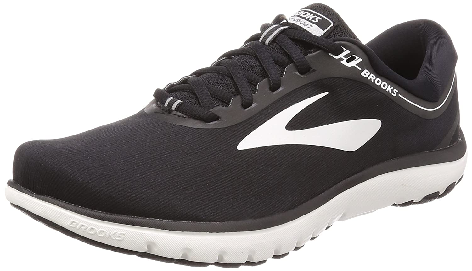 Brooks Pureflow 7, Zapatillas de Running para Hombre 46.5 EU|Multicolor (Black/White 048)