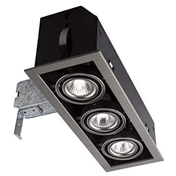 Bazz triple cube brushed chrome recessed halogen lighting kit bazz triple cube brushed chrome recessed halogen lighting kit aloadofball Image collections