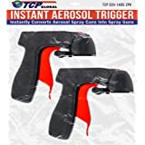 Instant Aerosol Trigger Handle (Pack of 2), Instantly Converts Spray Cans into Spray Guns - Full Hand Grip, Reusable, Easy to
