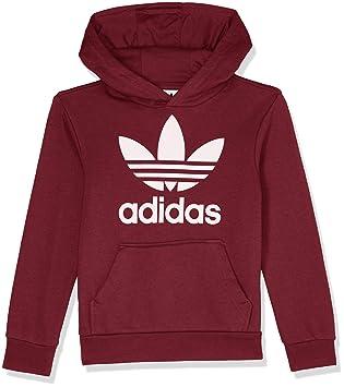 f7b665d3cf418 adidas J TRF Hoodie Sweat, Enfants, CD6501, Rouge/Blanc (Buruni ...