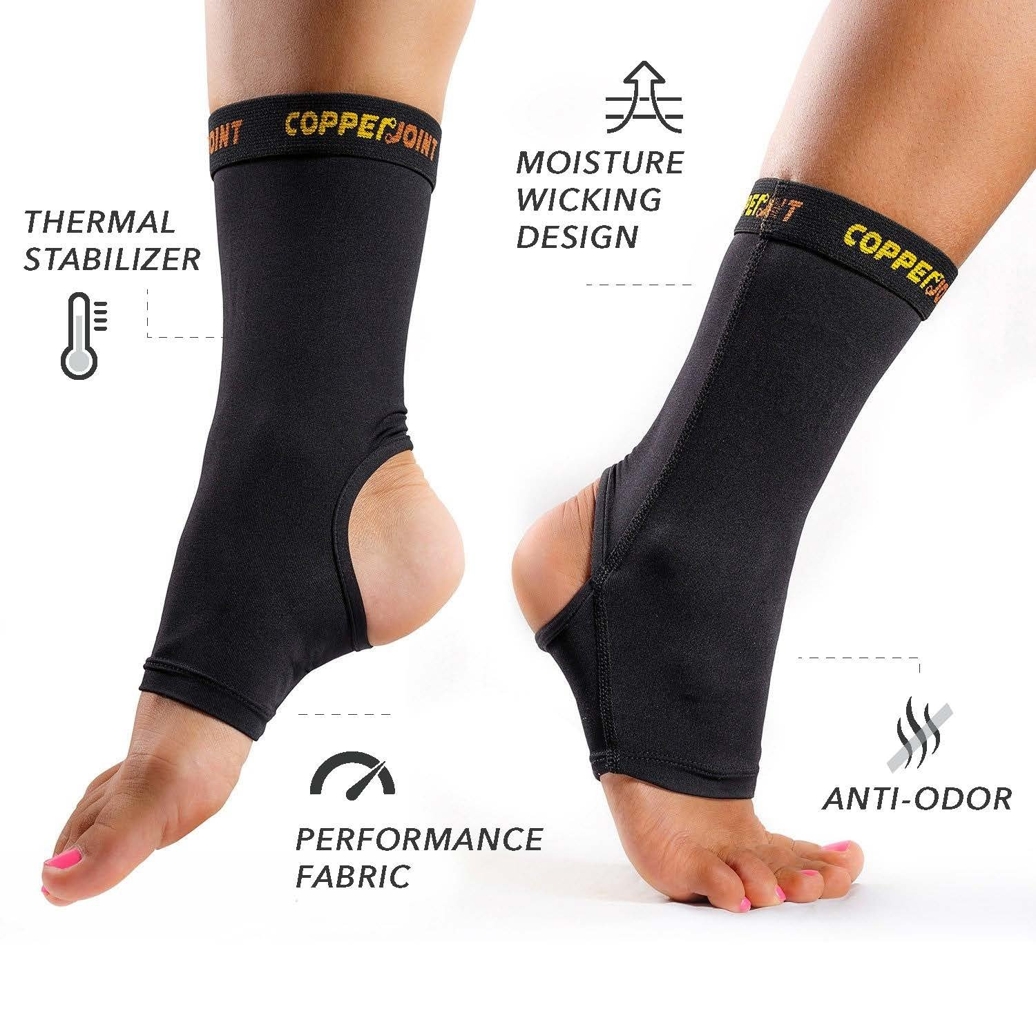 CopperJoint Copper-Infused Compression Ankle Sleeve, High-Performance, Breathable Design Provides Comfortable and Durable Joint Support for All Lifestyles, Single Sleeve (Medium) by CopperJoint (Image #3)