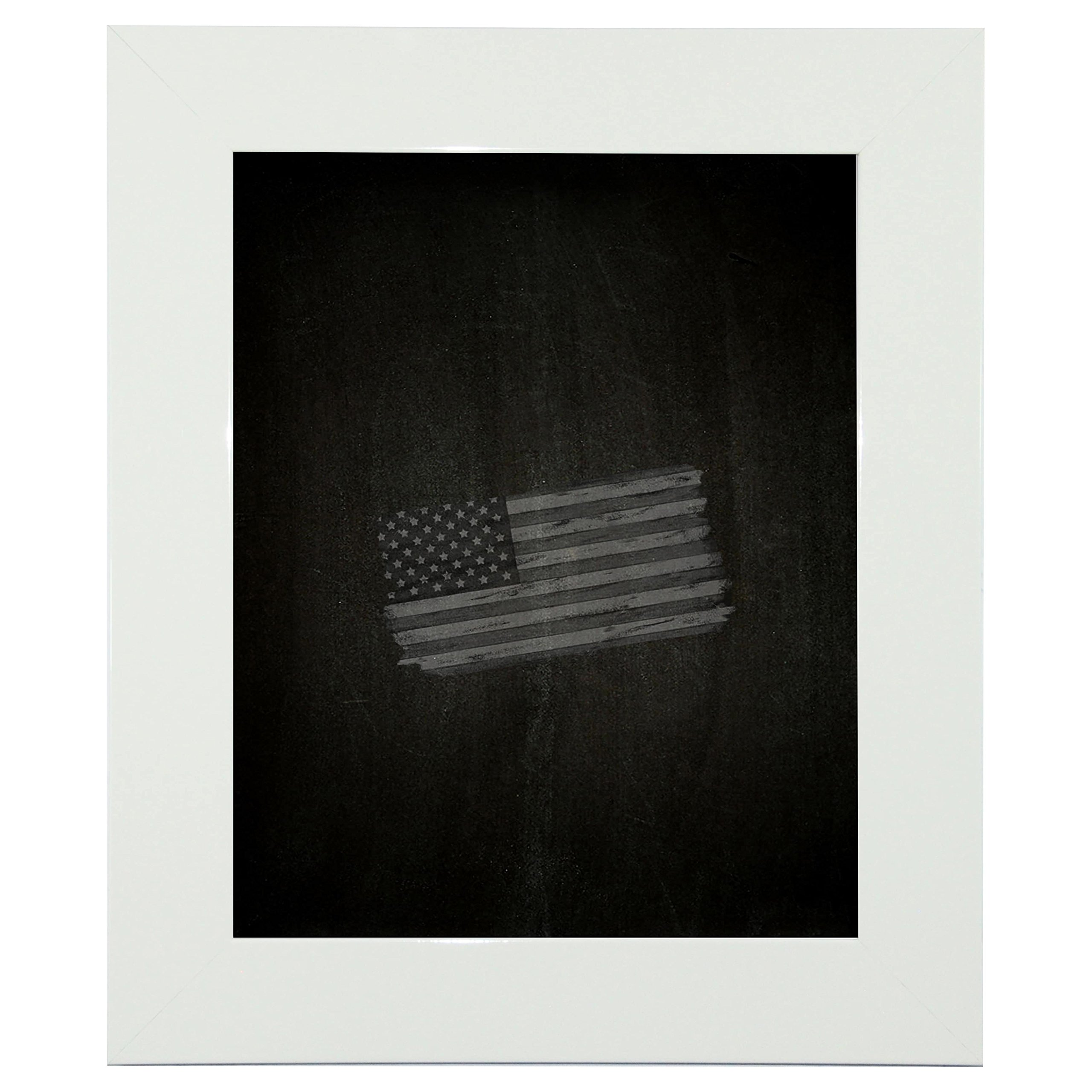 Rayne Mirrors American Made Rayne Delta White Blackboard/ Chalkboard Exterior Size: 30 x 36 by Rayne Mirrors
