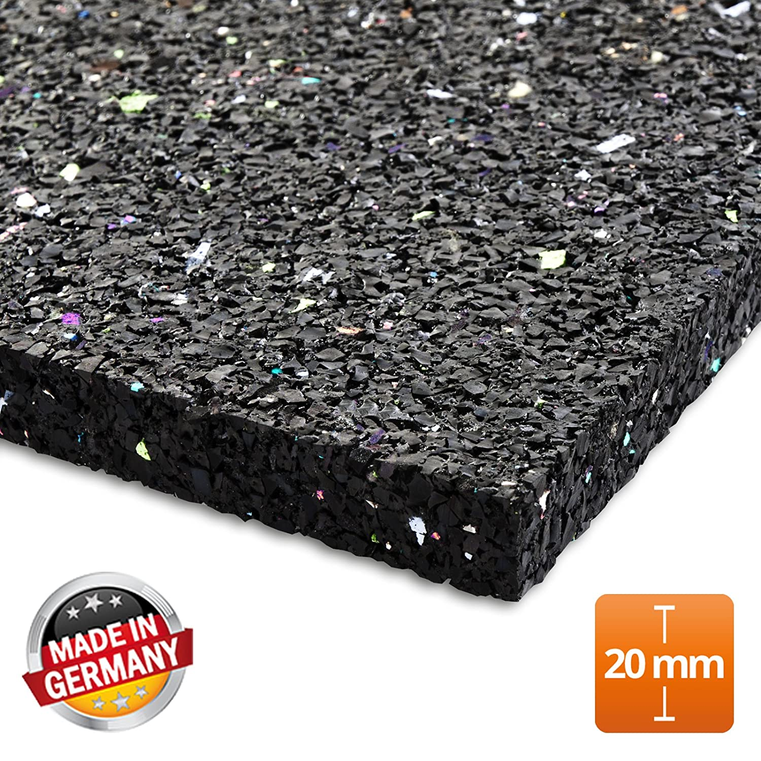 tapis anti vibration etm 60x60cm caoutchouc isonoriant. Black Bedroom Furniture Sets. Home Design Ideas