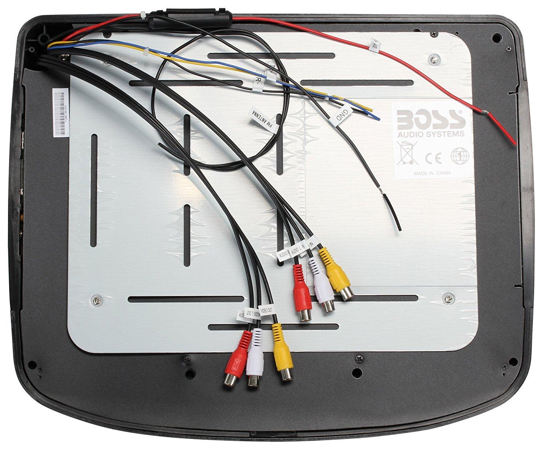 Wireless Remote Control Two Dual-channel Wireless Headphones FM Transmitter Black//Grey//Tan Interchangeable Housing Options BOSS Audio BV12.1MCH 12.1 Inch Flip-Down Car Monitor DVD//CD//MP3//USB//SD