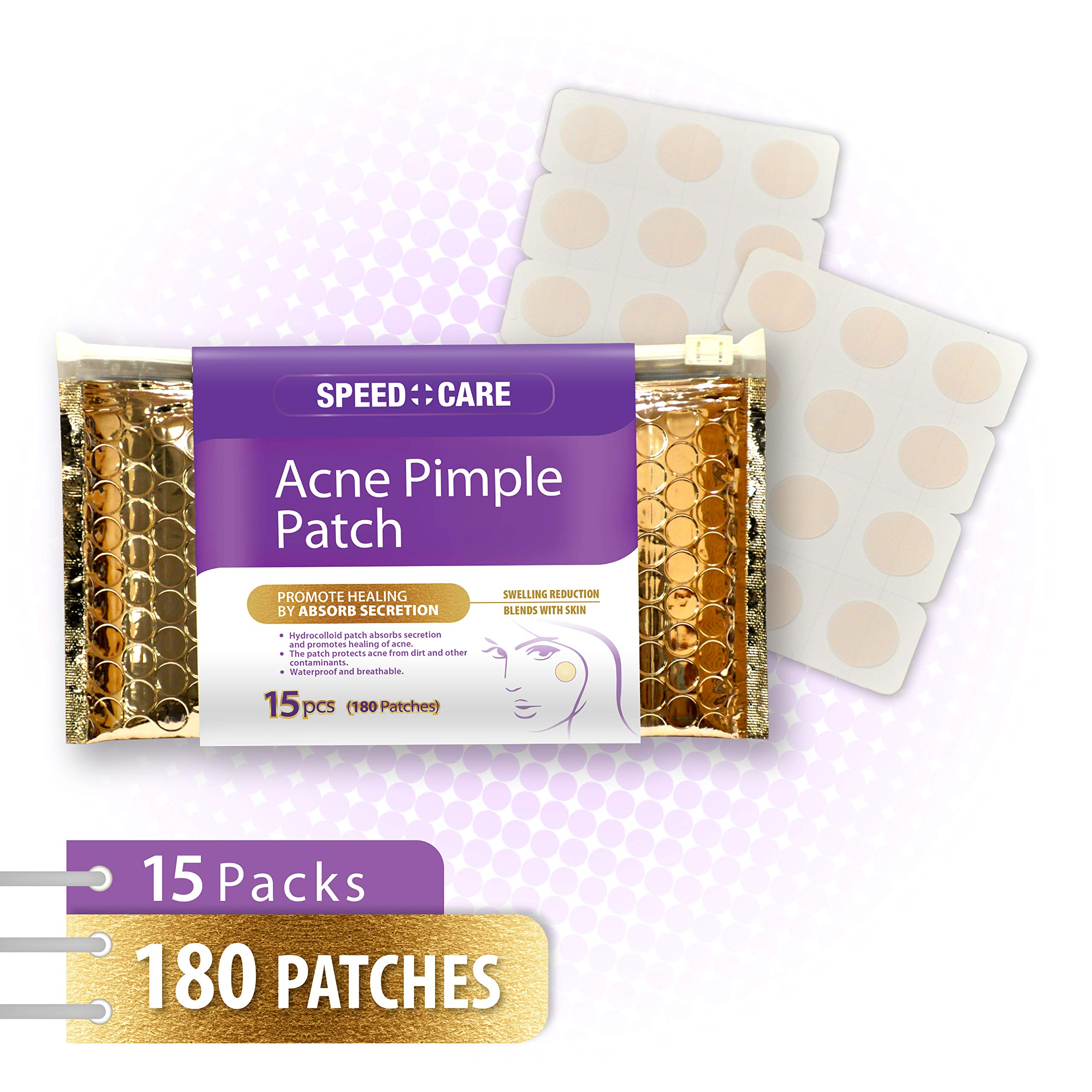 SPEED CARE Premium Hydrocolloid Acne Pimple Stickers Patch Value Pack Combo 180 Patches by SPEED CARE