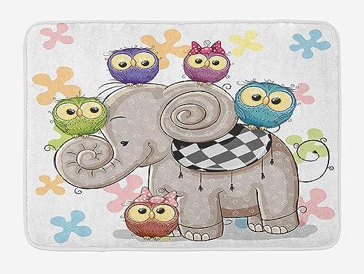 BAIF Alfombra de baño de Dibujos Animados, Elefante de Dibujos ...