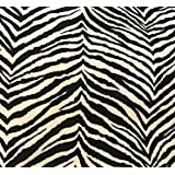 Image of: Wallpaper Animal Print Amazoncom Amazoncom Zebra Poly Cotton Animal Print Fabric 58