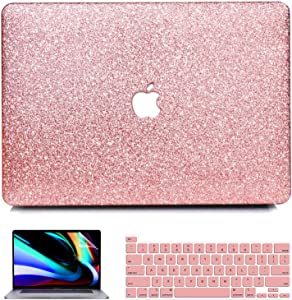 MacBook Pro 13 inch Case 2020 2019 2018 2017 2016 Release A2251 A2289 A2159 A1708 A1989 A1706, iPAPA Glitter Sparkly Hard Case + Keyboard Cover + Screen Protector for Pro 2020 with Touch Bar & Retina