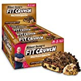 FITCRUNCH Protein Bars   Designed by Robert Irvine   World's Only 6-Layer Baked Bar   Just 6g of Sugar & Soft Cake Core (12 Bars, Chocolate Chip Cookie Dough)