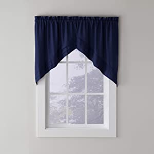 SKL Home by Saturday Knight Ltd.Holden Swag Valance Pair, Navy, 57 inches x 30 inches