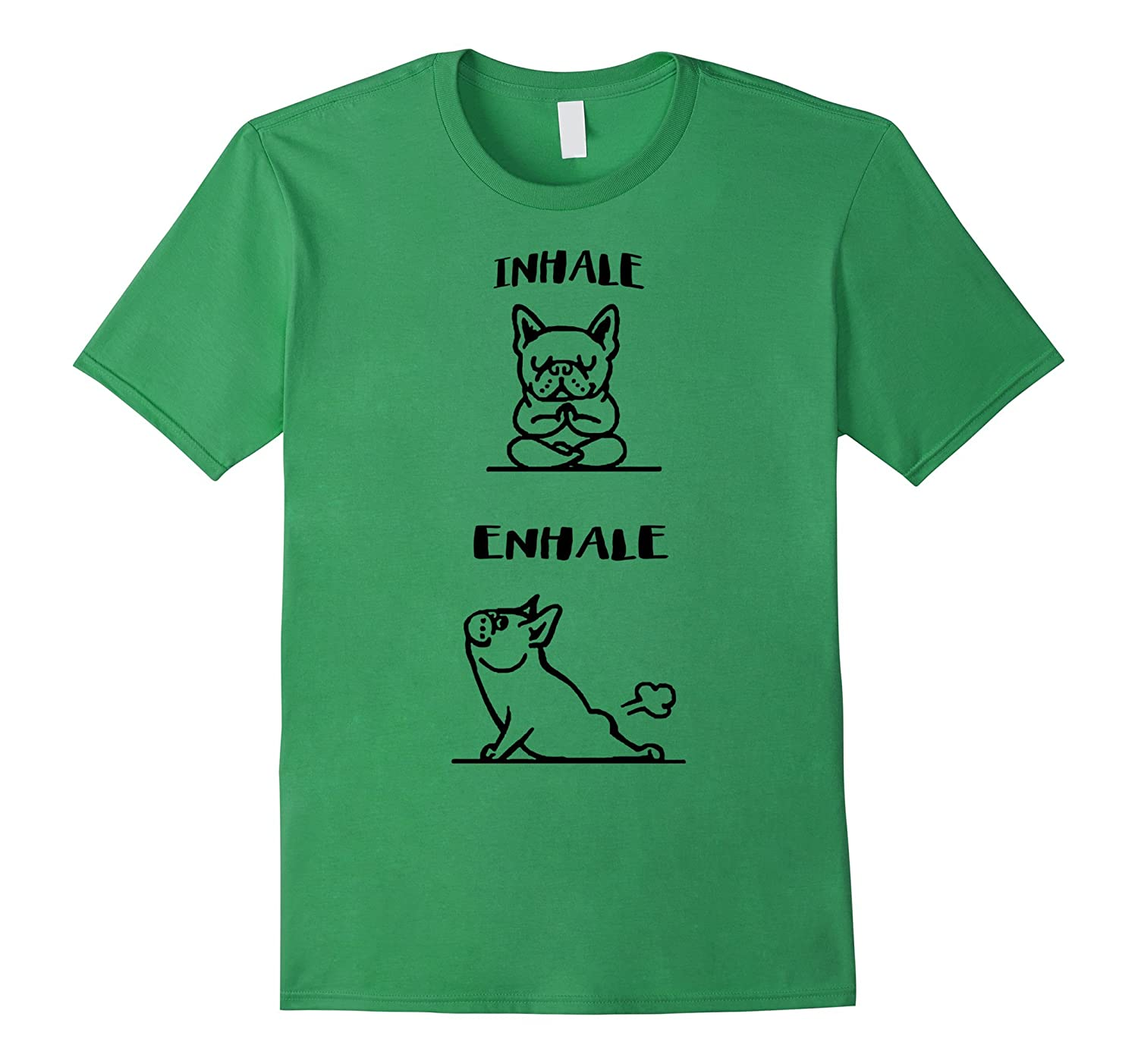 Inhale Exhale – Bulldog T Shirt-Teevkd