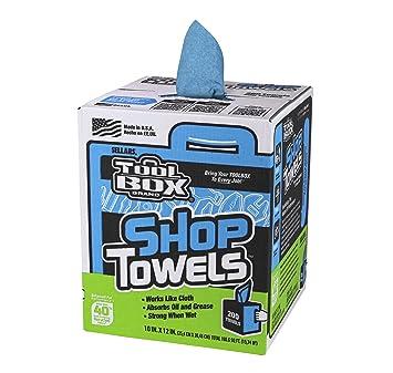 """Sellars 55202 ToolBox Shop Towels Box, 10"""" x 12"""" (6 Boxes of"""