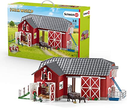 Toy Horse Stable Accessories Playset Detailed Realistic Toys Model Play Farm Big