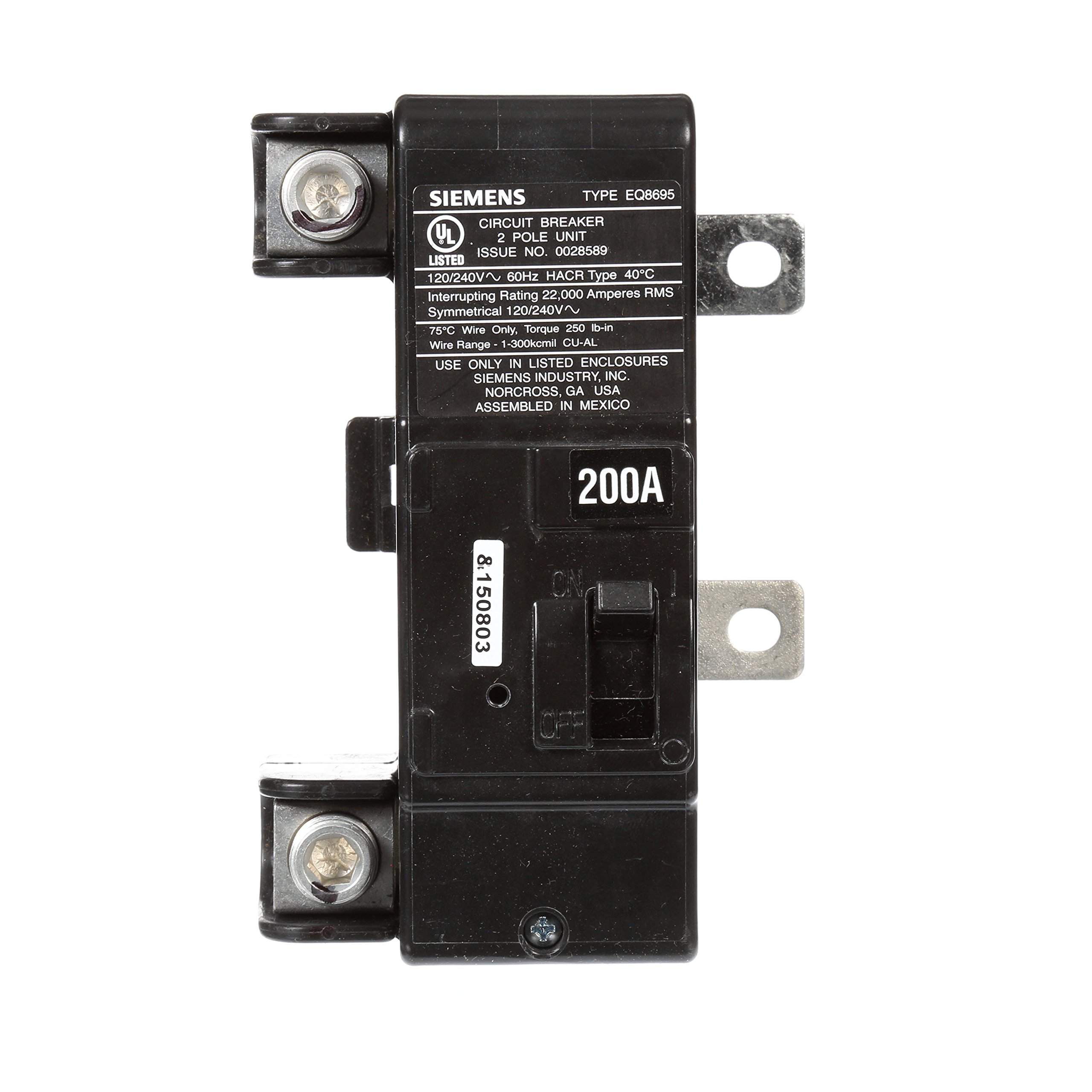 Siemens MBK200A 200-Amp Main Circuit Breaker for Use in Ultimate Type Load Centers by SIEMENS