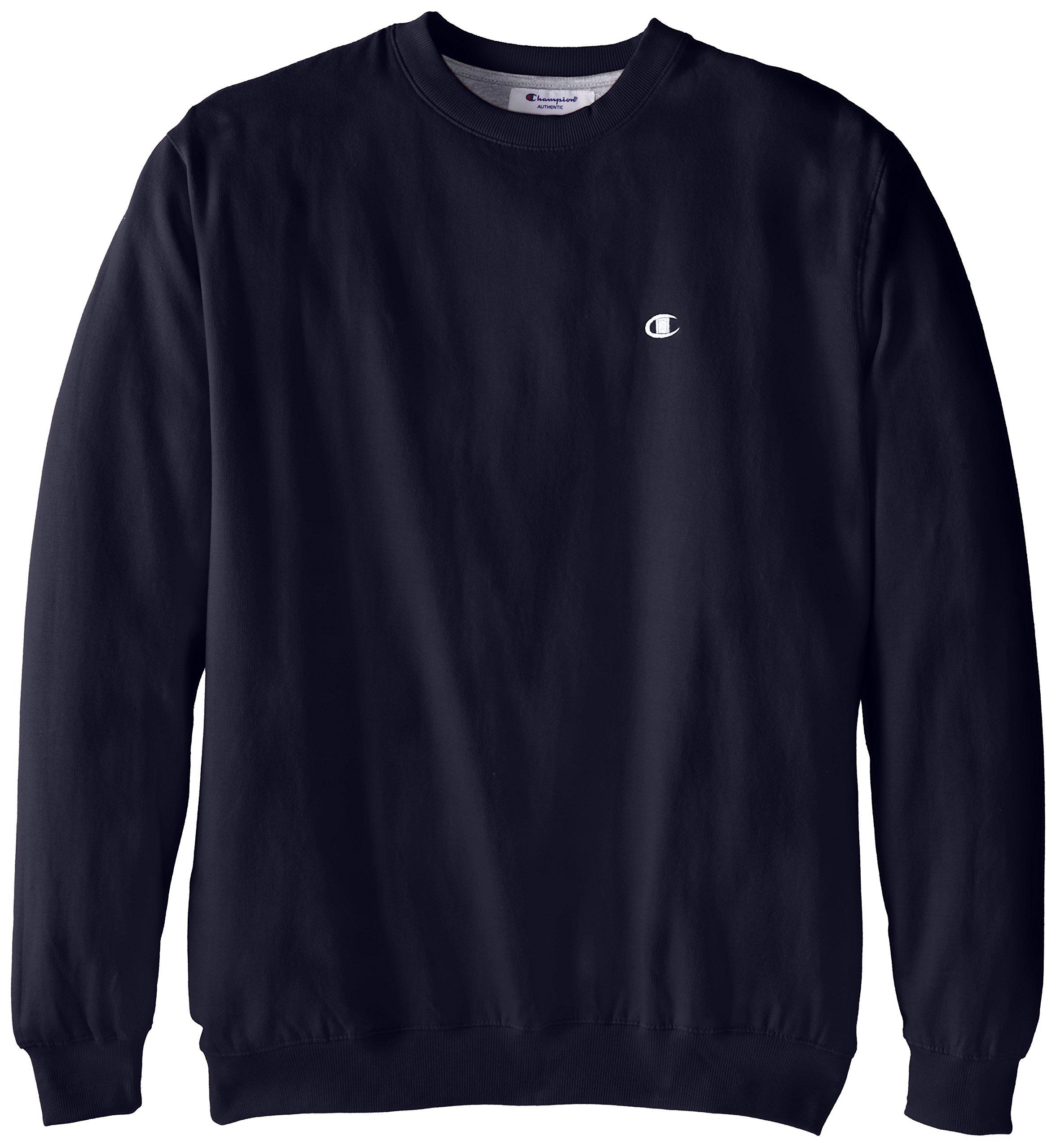 Champion Men's Big-Tall Fleece Crew Sweatshirt, Navy, 3X/Tall by Champion