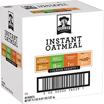 48-Ct Quaker Instant Oatmeal Variety Pack Breakfast Cereal