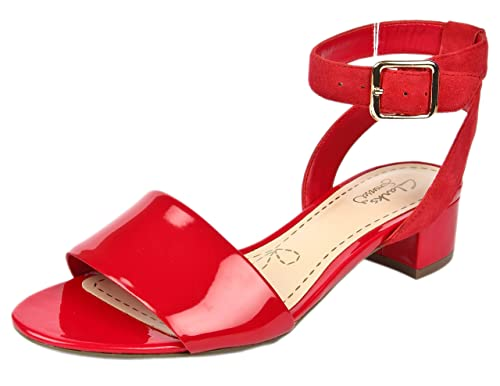 4d5b92d0e Clarks Women s Sharna Balcony Red Fashion Sandals - 6 UK  Buy Online ...