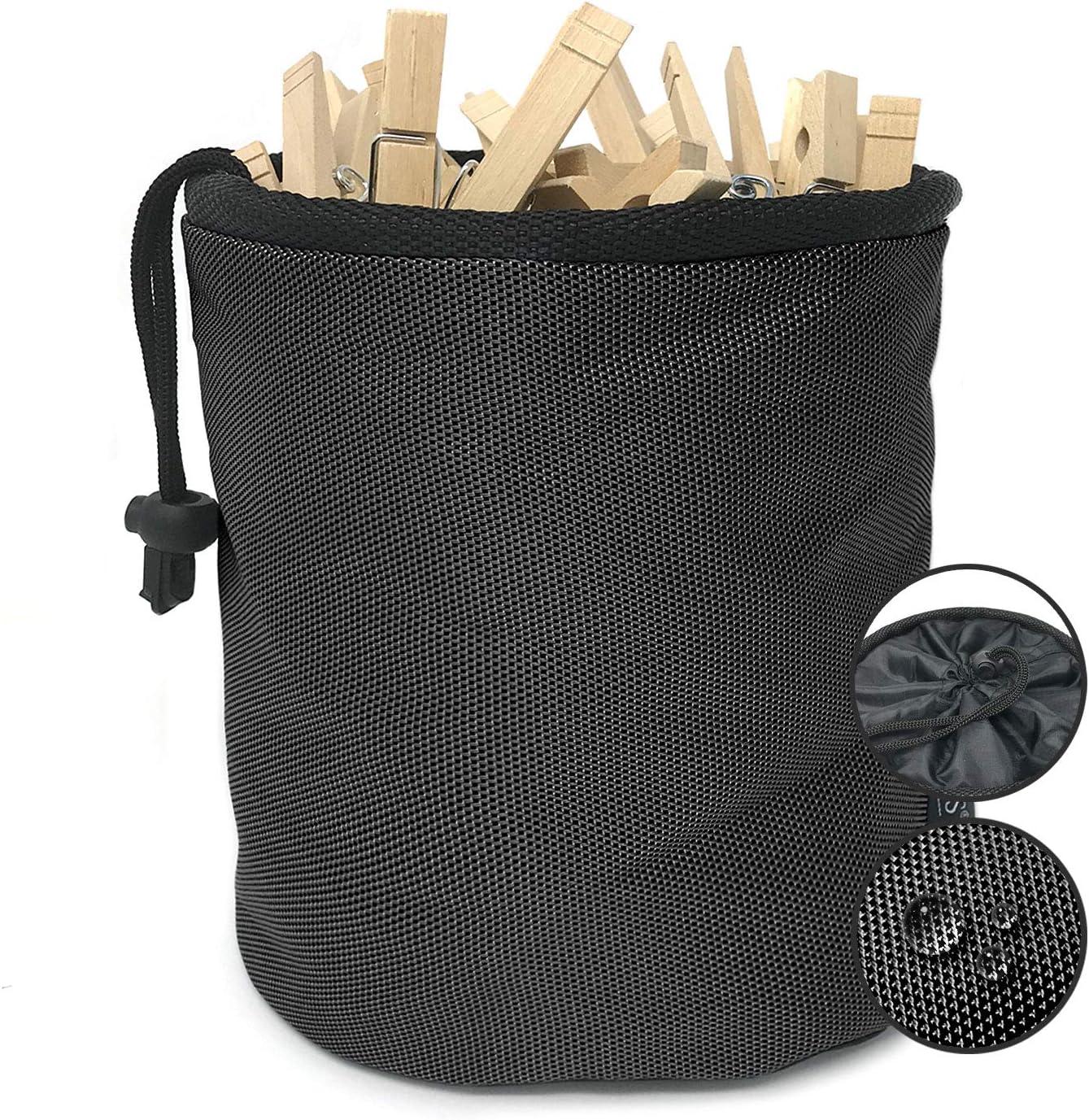 Bolsa para Pinzas Impermeable Premium de Smith con Mosquetones de Metal para Colgarla Negro