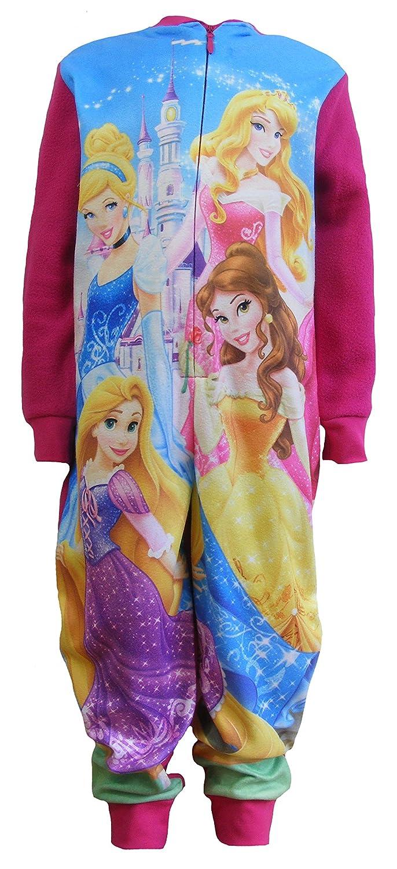 childrens kids fleecy  pyjamas all in 1sleepsuits disney princess 2-3-4 5-6 7-8