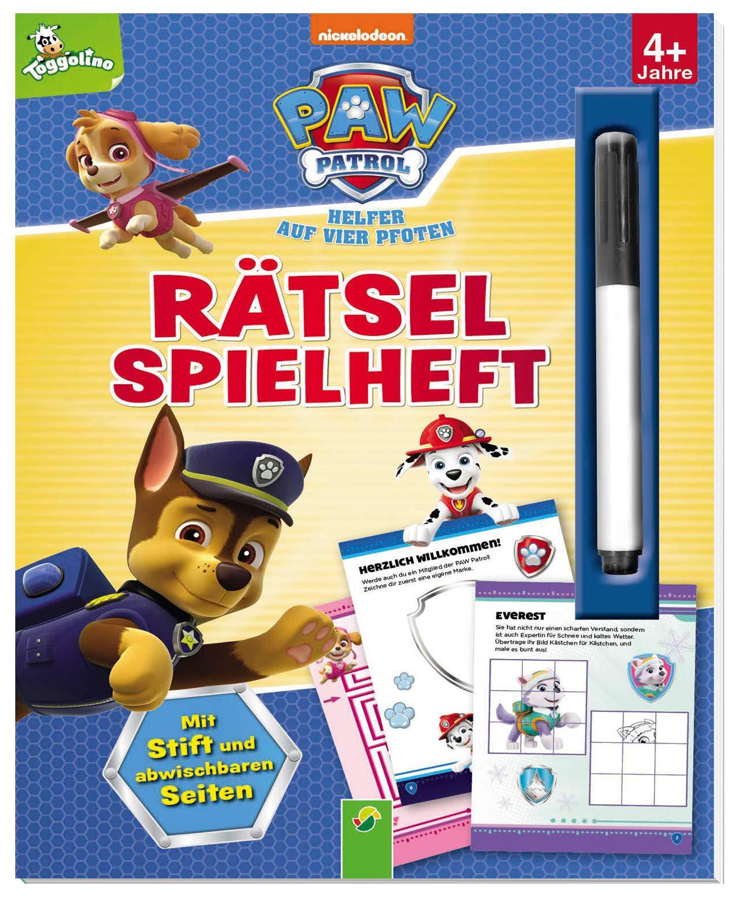 Paw Patrol   Rätselspielheft  Mit Stift Und Abwischbaren Seiten