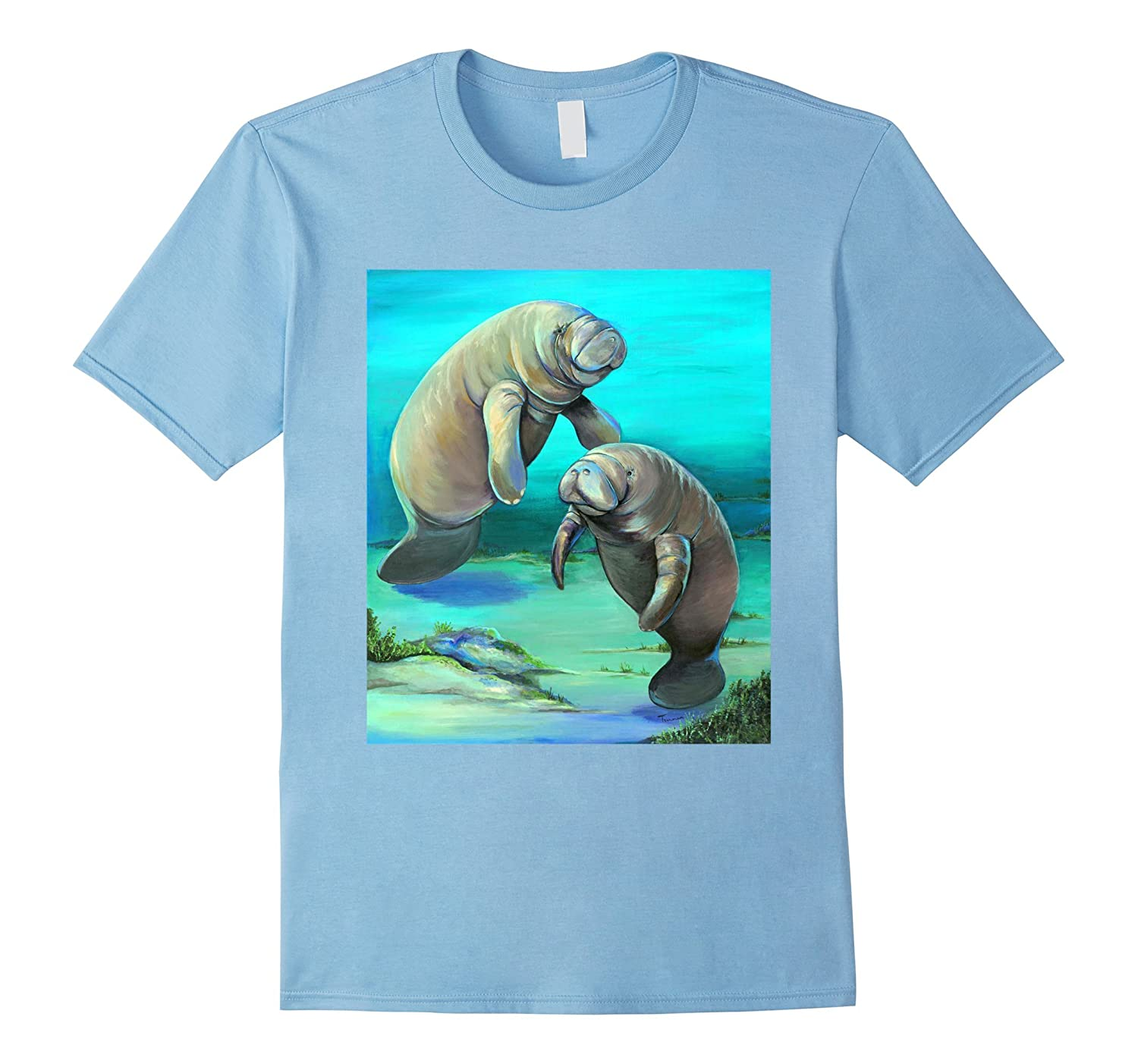 Cute Manatee Mother and Baby T Shirt-TH