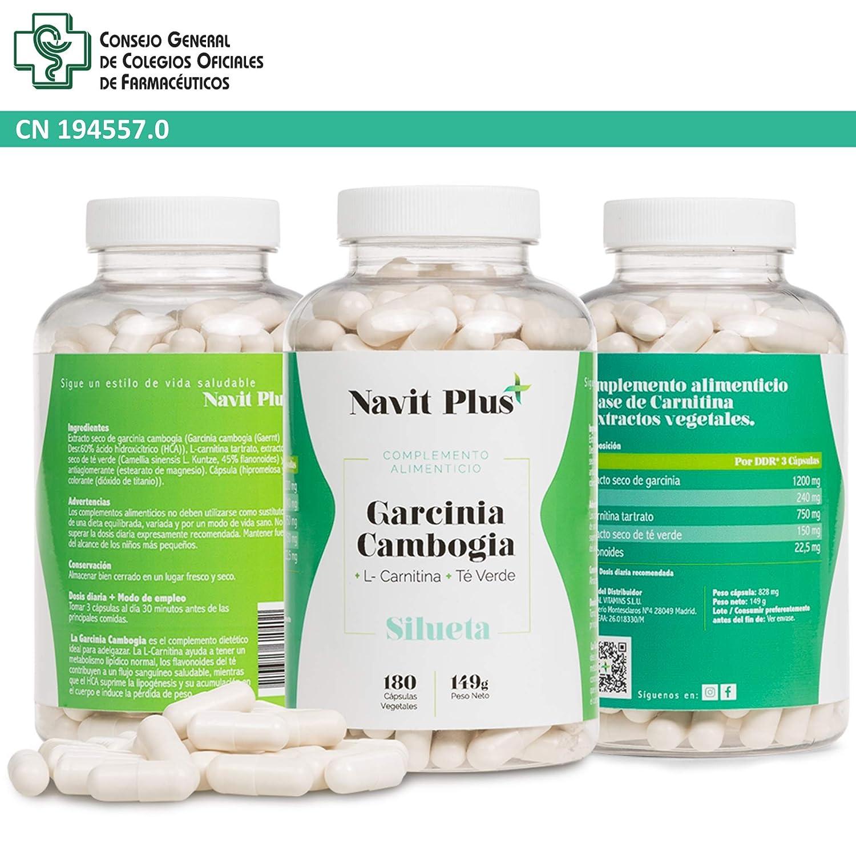 Garcinia Cambogia + L-Carnitina + Té Verde. Reductor del apetito, quemagrasas natural, termogénico potente. Tú complemento natural para ayudarte a ...