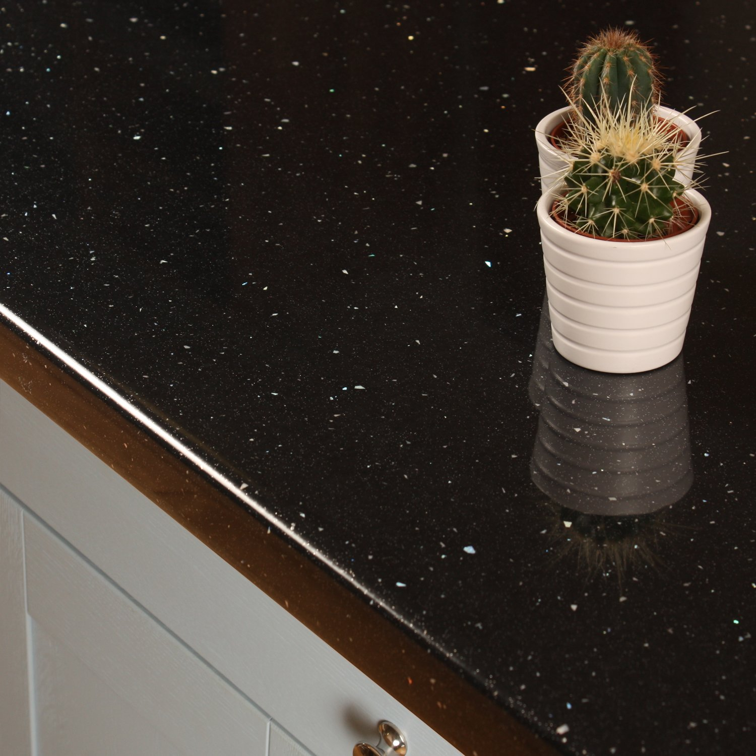 Black Sparkle Laminate Kitchen Worktop