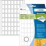 Herma 10603 Étiquettes universelles amovibles/movables 12 x 18 mm 1792 pièces Blanc