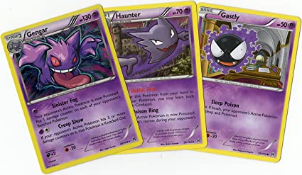 Amazon com: Evolution Set - Gengar/Haunter/Gastly XY Breakthrough
