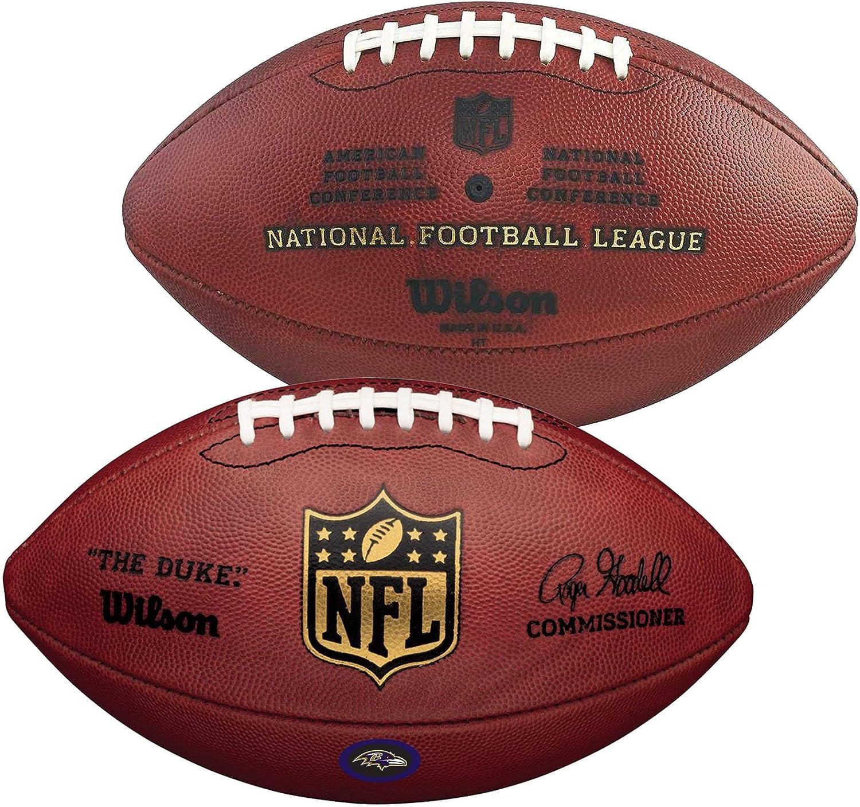 スポーツ記念品 ウィルソン ボルチモア レイブンズ 公式 デューク フットボール チームデカール NFLボール B07HLBCYR7