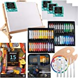 MEEDEN 72-Piece Acrylic Painting Set with Beech Wood Table Easel, 48×22ML Acrylic Paint Set and All Additional Supplies…