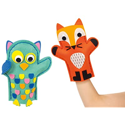 Goula- Pack 2 Marionetas Búho y Zorro Buho (52030): Juguetes y juegos