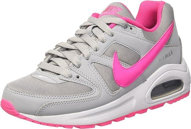 Nike Air MAX Command Flex (GS), Zapatillas de Running para Mujer, Gris (Wolf Grey/Pink Blast-White), 38 EU: Amazon.es: Zapatos y complementos