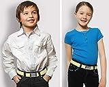 Kids Elastic Adjustable Strech Belt With Silver
