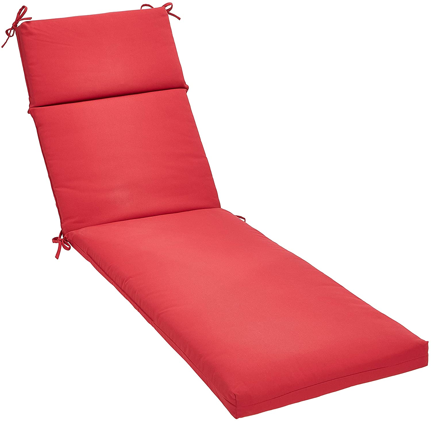 AmazonBasics Outdoor Lounger Patio Cushion - Red
