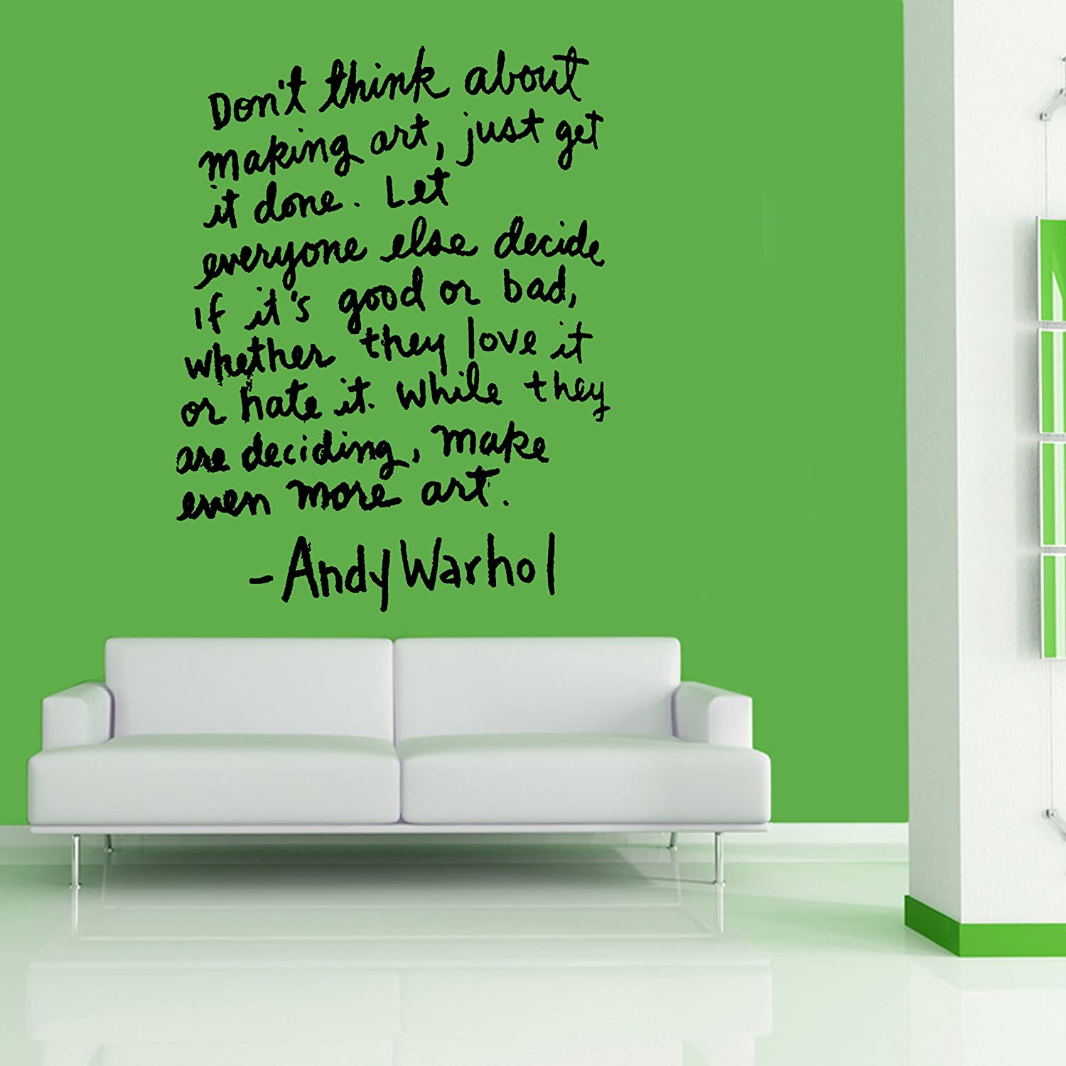 Amazon Andy Warhol Quote Wall Art Sticker Mural Giant Large