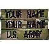Custom Multicam / Scorpion / OCP Name Tape with Velcro US Army USAF 3pc set