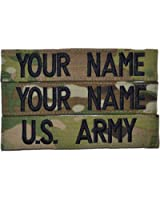 Custom Multicam / Scorpion / OCP Name Tape with Hook Fastener Backing US Army USAF 3pc set