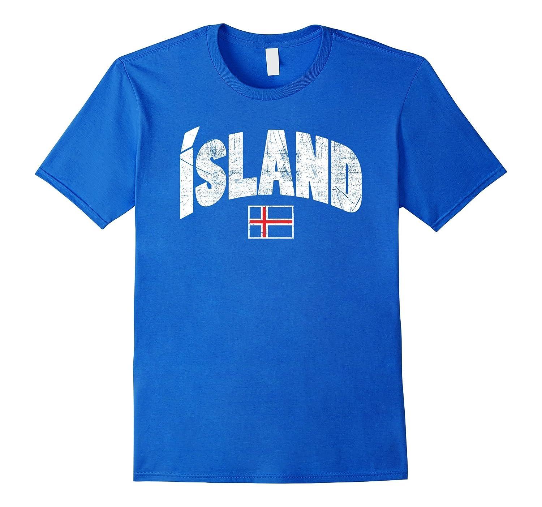 ICELAND Flag Soccer T-shirt Vintage Futbol Football Jersey-BN