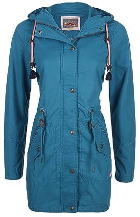 6523f964 myMO - Parka Obeline - Woman - L - Blue: Amazon.co.uk: Clothing