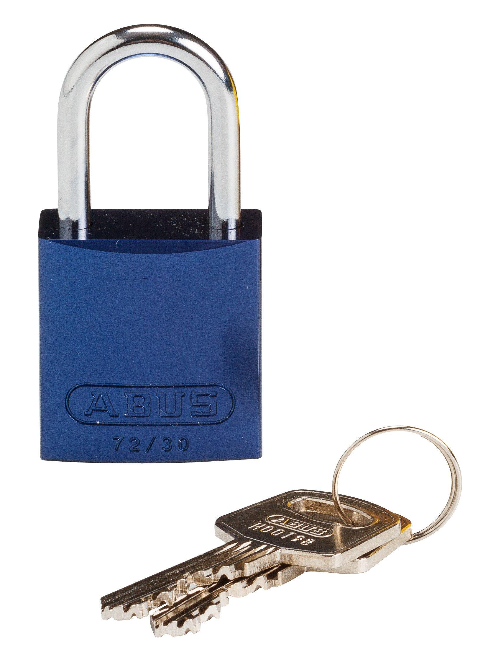 Brady 133271 Keyed Padlock, Different Key, Aluminum (Pack of 1)