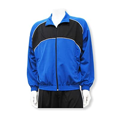 Crossfire poly-knit soccer warm up jacket