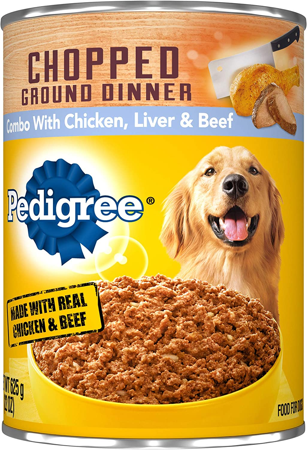 Pedigree Chopped Ground Dinner with Chicken, Beef & Liver Canned Dog Food